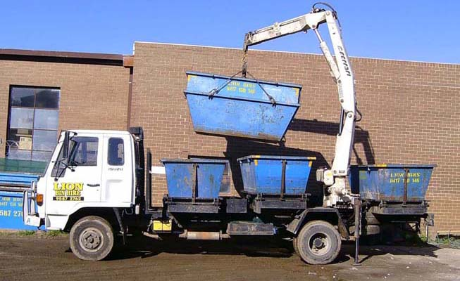 Our truck carries skip bins for hire for you urgent rubbish removal.